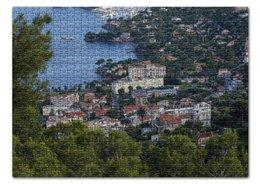 """Пазл 43.5 x 31.4 (408 элементов) """"Ницца"""" - море, франция, вид, высота, ницца"""