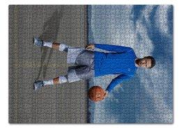 "Пазл 43.5 x 31.4 (408 элементов) ""Stephen Curry"" - баскетбол, nba, нба, golden state warriors, стефен карри"