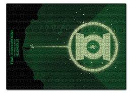 "Пазл 43.5 x 31.4 (408 элементов) ""Green Lantern/Зеленый Фонарь "" - комиксы, green, lantern, green lantern, dc comics"