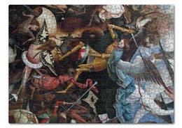 """Пазл 43.5 x 31.4 (408 элементов) """"Архангел Михаил (картина Брейгеля)"""" - картина, живопись, христианство, возрождение, брейгель"""