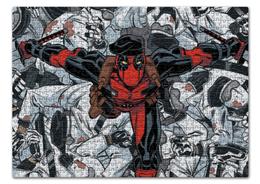 "Пазл 43.5 x 31.4 (408 элементов) ""Дэдпул (Deadpool)"" - марвел, комиксы, дэдпул, deadpool"