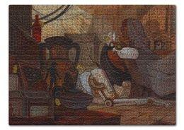 """Пазл 43.5 x 31.4 (408 элементов) """"Коллекция"""" - фантастика, робот, иллюстрация, хоррор, волк"""
