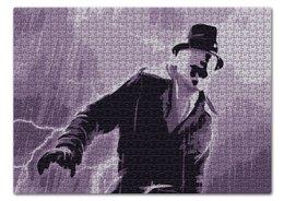 """Пазл 43.5 x 31.4 (408 элементов) """"Роршах"""" - dc comics, комиксы, роршах, хранители, rorschach"""