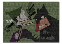 "Пазл 43.5 x 31.4 (408 элементов) ""Бэтмен и Джокер"" - joker, комиксы, batman, джокер, бэтмен"