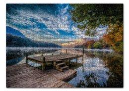 "Пазл 43.5 x 31.4 (408 элементов) ""Природа у озера"" - фото"