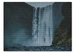 """Пазл 43.5 x 31.4 (408 элементов) """"Summer time!"""" - лето, подарок, пазл, водопад, путешествие"""