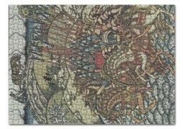 """Пазл 43.5 x 31.4 (408 элементов) """"Вольга и Микула (Иван Билибин)"""" - картина, билибин, живопись, былина, богатыри"""