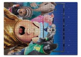 """Пазл 43.5 x 31.4 (408 элементов) """"Зверопой"""" - музыка, животные, мультфильм, песня, зверопой"""