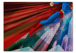"Пазл 43.5 x 31.4 (408 элементов) ""Супермен (Superman)"" - комиксы, superman, супермэн, dc comics, супс"