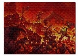 """Пазл 43.5 x 31.4 (408 элементов) """"Doom 4"""" - doom, демон, шутер, дум"""