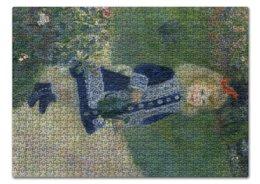 """Пазл 43.5 x 31.4 (408 элементов) """"Девочка с лейкой (Пьер Огюст Ренуар)"""" - картина, импрессионизм, природа, живопись, ренуар"""