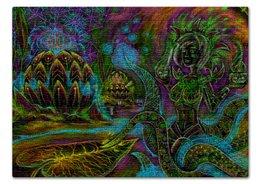 """Пазл 43.5 x 31.4 (408 элементов) """"МИР ФЭНТЕЗИ"""" - девушка, цветы, стиль эксклюзив креатив красота яркость, арт фэнтези"""