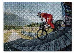 """Пазл 43.5 x 31.4 (408 элементов) """"Mountain bike"""" - bike, mtb, downhill, uci, loicbruni"""
