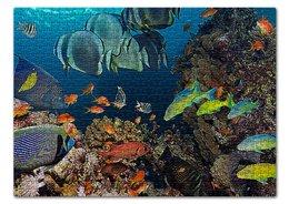 """Пазл 43.5 x 31.4 (408 элементов) """"ПОДВОДНЫЙ МИР"""" - красота, яркость, рыбки, морское дно, стиль"""