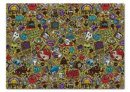 """Пазл 43.5 x 31.4 (408 элементов) """"СТИКЕРЫ.КОМИКСЫ"""" - абстракция, стиль надпись логотип яркость, стиль эксклюзив креатив красота яркость, арт фэнтези"""