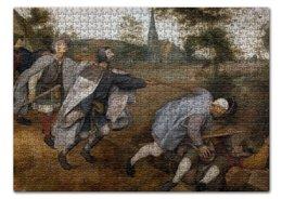 """Пазл 43.5 x 31.4 (408 элементов) """"Притча о слепых (Питер Брейгель Старший)"""" - картина, брейгель"""