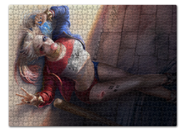 "Пазл 43.5 x 31.4 (408 элементов) ""Харли Квинн"" - комиксы, бэтмен, harley quinn, dc comics, отряд самоубийц"