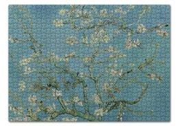 "Пазл 43.5 x 31.4 (408 элементов) ""Цветы миндаля (Ван Гог)"" - картина, ван гог"