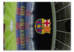 """Пазл 43.5 x 31.4 (408 элементов) """"Барселона"""" - футбол, barcelona, messi, месси, испания"""