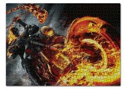 """Пазл 43.5 x 31.4 (408 элементов) """"Призрачный гонщик"""" - comics, комиксы, марвел, призрачный гонщик, ghost rider"""