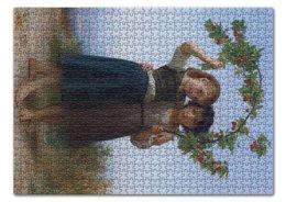 """Пазл 43.5 x 31.4 (408 элементов) """"Вишневая ветвь (картина Вильяма Бугро)"""" - дружба, картина, академизм, живопись, бугро"""