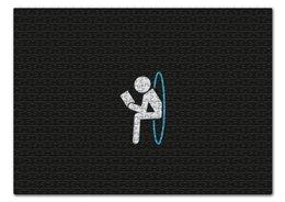 """Пазл 43.5 x 31.4 (408 элементов) """"Портал"""" - portal, человечек, портал, читает книгу"""