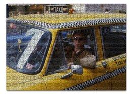 """Пазл 43.5 x 31.4 (408 элементов) """"Таксист"""" - звезды, классика, фильмы, такси"""