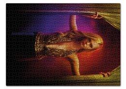 """Пазл 43.5 x 31.4 (408 элементов) """"Неоновый демон"""" - девушка, кино, мечта, модель, эль фаннинг"""
