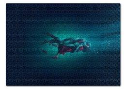 """Пазл 43.5 x 31.4 (408 элементов) """"Форма воды"""" - любовь, кино, фэнтези, оскар, форма воды"""