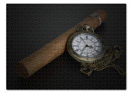 """Пазл 43.5 x 31.4 (408 элементов) """"Карманные часы"""" - часы, пазлы"""