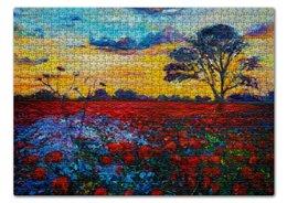 """Пазл 43.5 x 31.4 (408 элементов) """"Природа Мира"""" - цветы, природа, веган, go vegan, этика"""