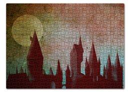 "Пазл 43.5 x 31.4 (408 элементов) ""Хогвартс"" - harry potter, hogwarts, хогвартс, гарри поттер"