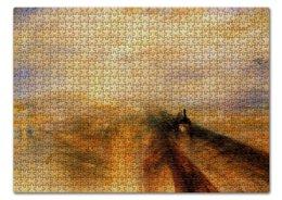 """Пазл 43.5 x 31.4 (408 элементов) """"Дождь, пар и скорость"""" - картина, тёрнер"""