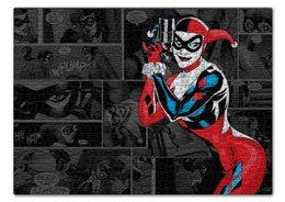 "Пазл 43.5 x 31.4 (408 элементов) ""Харли Квинн"" - joker, комиксы, бэтмен, harley quinn, dc comics"