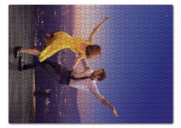"Пазл 43.5 x 31.4 (408 элементов) ""Ла Ла Ленд"" - мечта, оскар, райан гослинг, la la land, эмма стоун"
