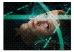 """Пазл 43.5 x 31.4 (408 элементов) """"Звездные войны - Лея"""" - кино, фантастика, star wars, звездные войны, дарт вейдер"""
