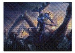 "Пазл 43.5 x 31.4 (408 элементов) ""Королева Пауков"" - тьма, паук, spider, легион"