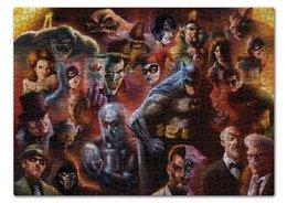 "Пазл 43.5 x 31.4 (408 элементов) ""Batman/Бэтмен"" - арт, batman, бэтмен, темный рыцарь, dc comics"
