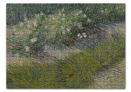 "Пазл 43.5 x 31.4 (408 элементов) ""Трава и бабочки (Винсент Ван Гог)"" - картина, ван гог, живопись"