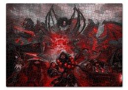 "Пазл 43.5 x 31.4 (408 элементов) ""Blizzard heroes"" - starcraft, world of warcraft, варкрафт, старкрафт, близзард"