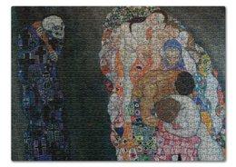 """Пазл 43.5 x 31.4 (408 элементов) """"Смерть и жизнь (Густав Климт)"""" - арт, живопись, климт, картина"""