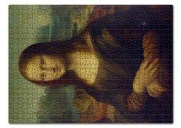 """Пазл 43.5 x 31.4 (408 элементов) """"Джоконда"""" - арт, искусство, да винчи, мона лиза, джоконда"""