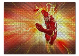 "Пазл 43.5 x 31.4 (408 элементов) ""Флэш (Flash)"" - flash, комиксы, dc comics, флэш"