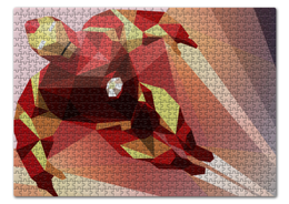 """Пазл 43.5 x 31.4 (408 элементов) """"Железный человек"""" - комиксы, марвел, железный человек, iron man, жч"""