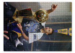"Пазл 43.5 x 31.4 (408 элементов) ""Stephen Curry"" - баскетбол, nba, нба, golden state warriors, стефен карри"