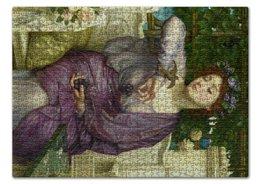 """Пазл 43.5 x 31.4 (408 элементов) """"Лесбия и её воробушек (Эдвард Пойнтер)"""" - картина, живопись, мифология, пойнтер"""