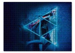 """Пазл 43.5 x 31.4 (408 элементов) """"Неоновый демон"""" - девушка, мечта, модель, эль фаннинг, neon demon"""