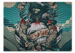 """Пазл 43.5 x 31.4 (408 элементов) """"Death clouds"""" - skull, череп, облака, death, смерть"""