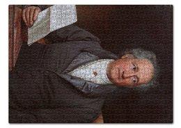 """Пазл 43.5 x 31.4 (408 элементов) """"Портрет Иоганна Гёте (кисти Карла Штилера)"""" - картина, портрет, философия, живопись, штилер"""