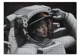 """Пазл 43.5 x 31.4 (408 элементов) """"Илон Маск"""" - звезды, космос, вселенная, spacex, илон маск"""
